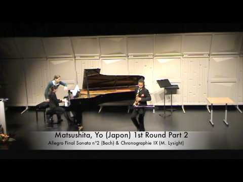 Matsushita, Yo (Japon) 1st Round Part 2