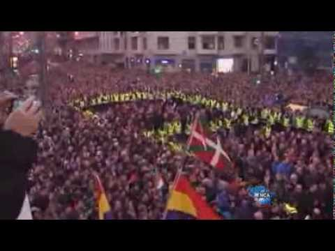 100,000 march for rights of jailed Basque militants