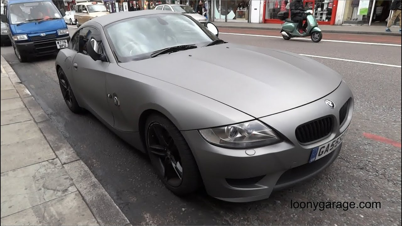 Bmw Z4 M Coupe Matte Carbon Fiber Full Vehicle Wrap Youtube