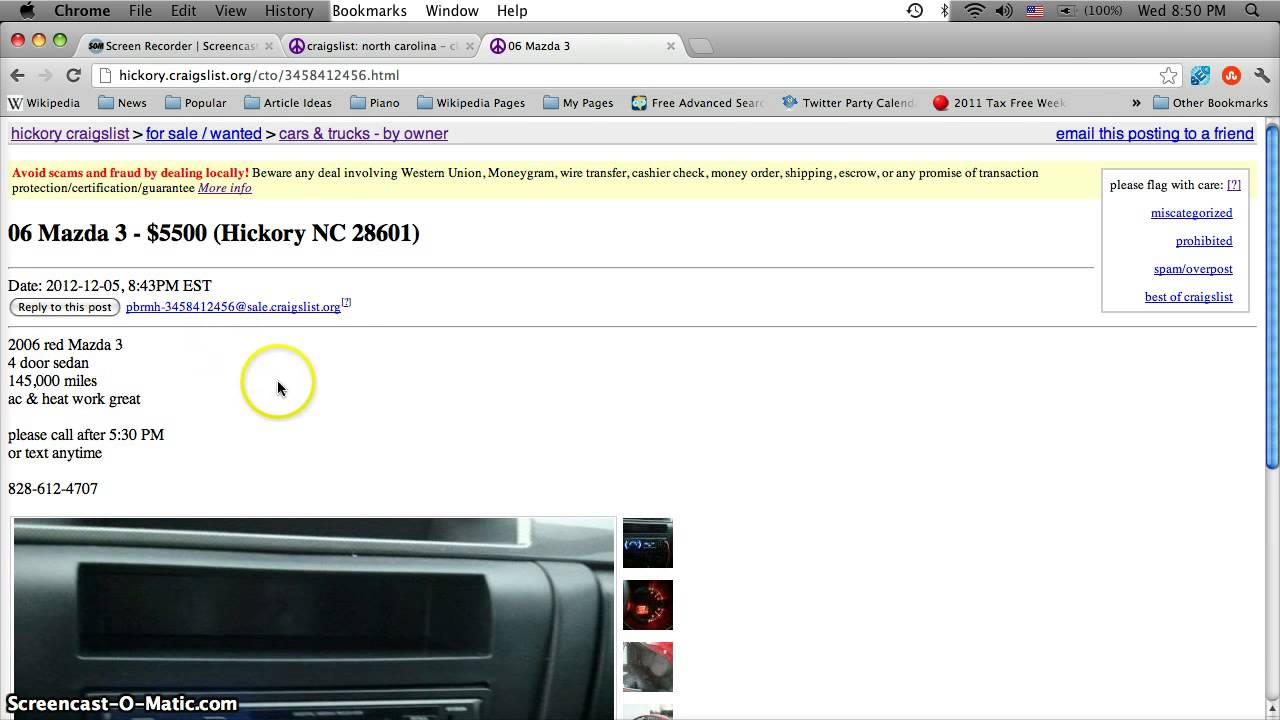 Craigslist Lenoir Nc Used Cars For Sale By Owner Youtube