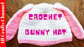 How To #crochet Bunny Hat