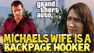 "GTA 5 - ""MICHAEL'S WIFE IS A BACKPAGE HOOKER"" Easter Egg ""GTA V"" (Grand Theft Auto 5)"