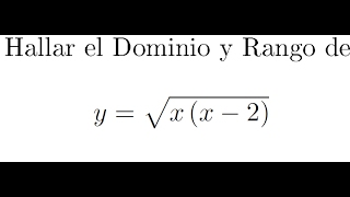Funciones Dominio Y Rango Matematicatv.com