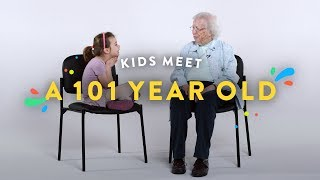 Kids Meet a 101 Year Old | Kids Meet | HiHo Kids