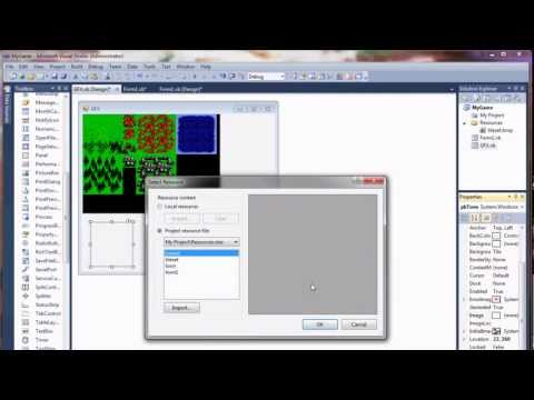 Visual Basic Game Programming Tutorial - Part 4 - Key Input and Character Movement