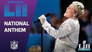 P!nk Belts Out the National Anthem!   Super Bowl LII NFL Pregame