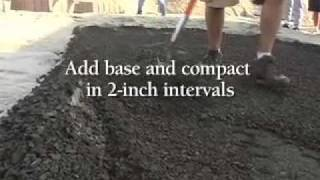 Do It Yourself Video How To Install Walkways, Patios And