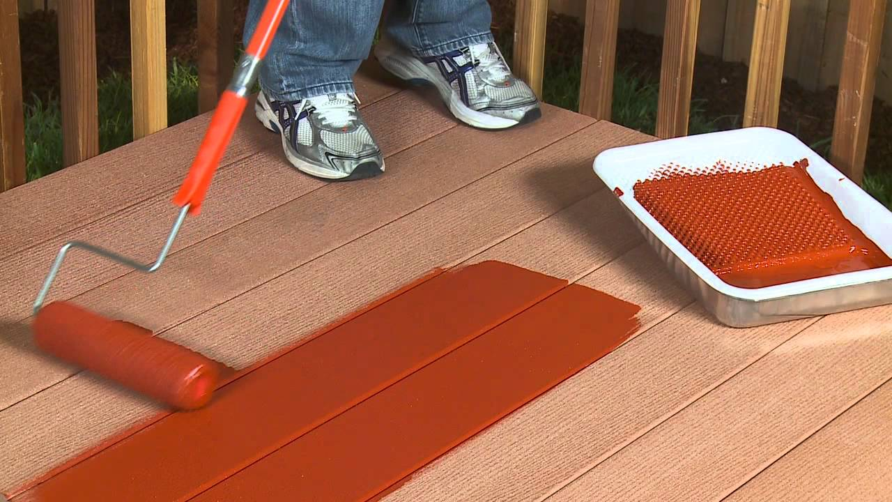 Behr Composite Deck Fence Stain Qr Youtube