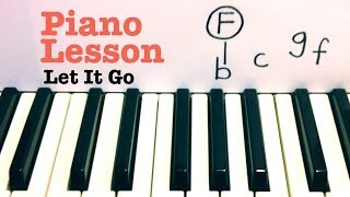 Let It Go ★ Piano Lesson ★ SUPER EASY ★ Frozen