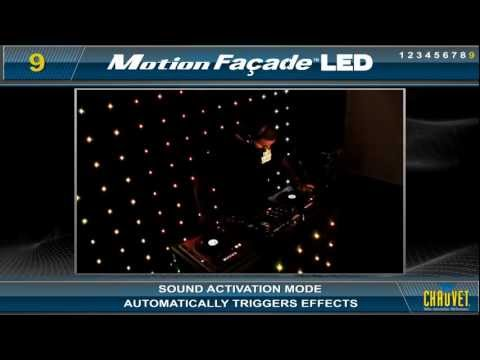 Chauvet Motion Facade LED deck stand cloth mutli colour matrix motion facade