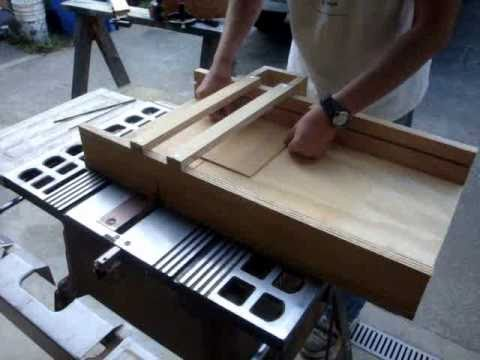 Make a table saw crosscut sled for your wood shop - YouTube