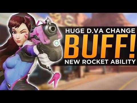 Overwatch: HUGE D.Va BUFF / RE-WORK! - NEW Rocket Ability!