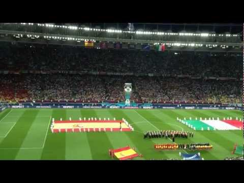 UEFA EURO 2012: Closing ceremony before the game