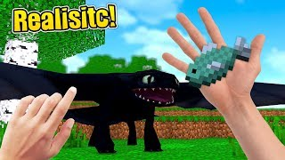 REALISTIC MINECRAFT - HOW TO TRAIN YOUR DRAGON!