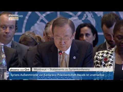 Syrien-Konferenz - Statements von Ban Ki-Moon, Sergej Lawrow & John Kerry am 22.01.2014