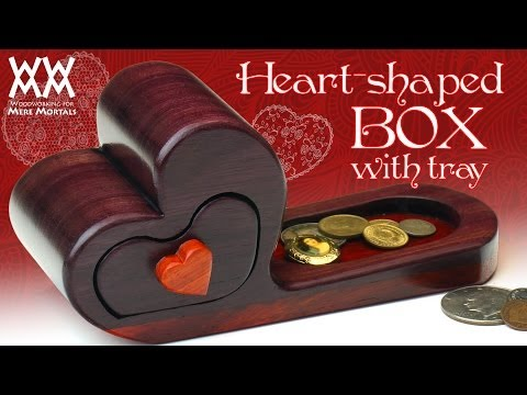 Heart-shaped box with tray. Valentine's Day gift idea.