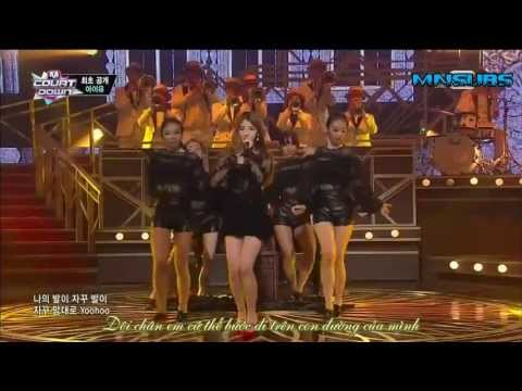 [Vietsub] 131010 M!Countdown - The Red Shoes @ IU's Comeback Stage