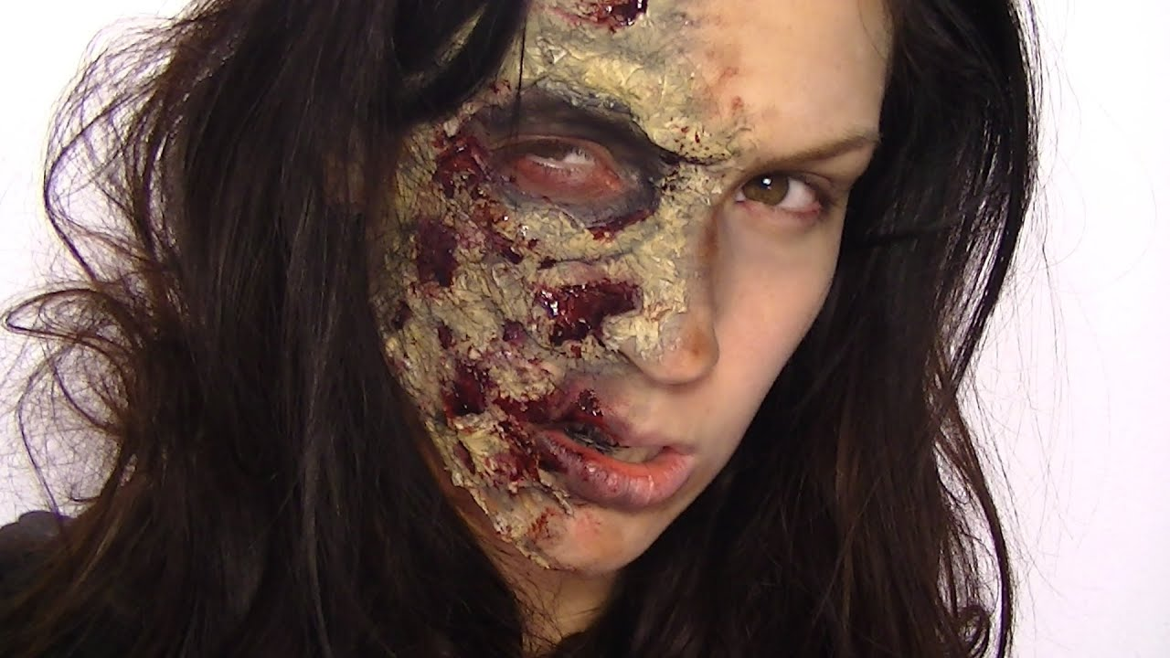 maquillage d 39 halloween zombie youtube. Black Bedroom Furniture Sets. Home Design Ideas