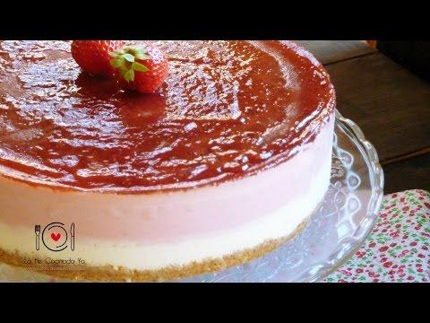 Cómo hacer Tarta de Fresas (Receta sin Horno) | LHCY