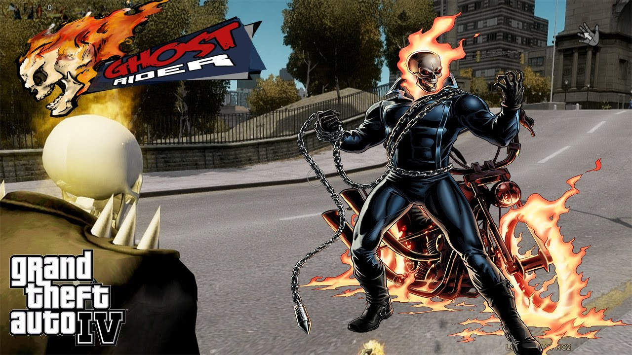 ghost rider running from cops