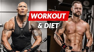 The Rock Workout & Diet Challenge | The Rock Daily Routine, Hercules diet and training