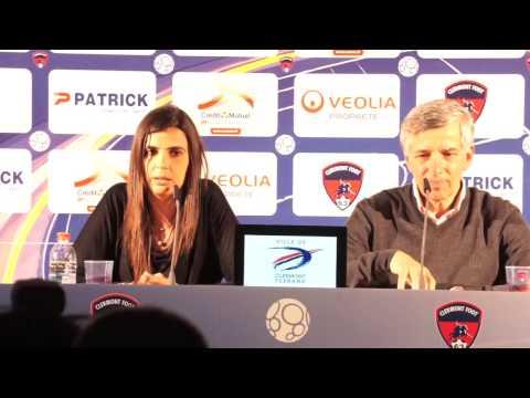 Conférence de presse Helena Costa au Clermont Foot 63