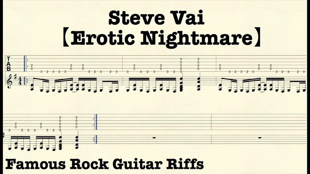 Famous Rock Guitar Riffs with TABsu3010Erotic Nightmareu3011SteveVai - YouTube