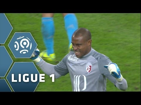 Vincent Enyeama infranchissable  ECOEURE Gignac dans Lille - OM  2013/2014