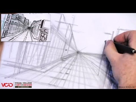 Learn How to Draw a City in One Point Perspective Part 1 of 5