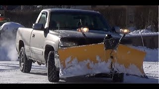 Chevy Silverado 1500 Wiith Meyers V-plow Plowing Small