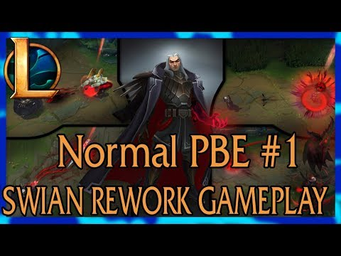 League Of Legends Live [Season 8] PBE Normal #1|SWIAN REWORK GAMEPLAY