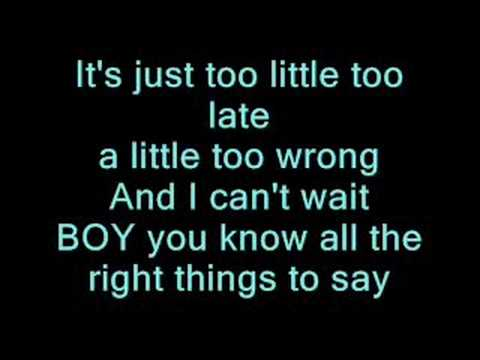 Too Little Too Late - Jojo (with Lyrics)