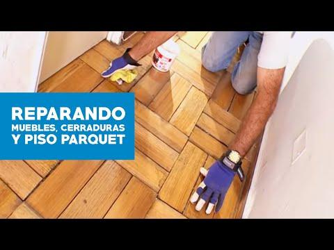 ¿Cómo reparar los muebles de cocina, cerraduras y piso de parquet?