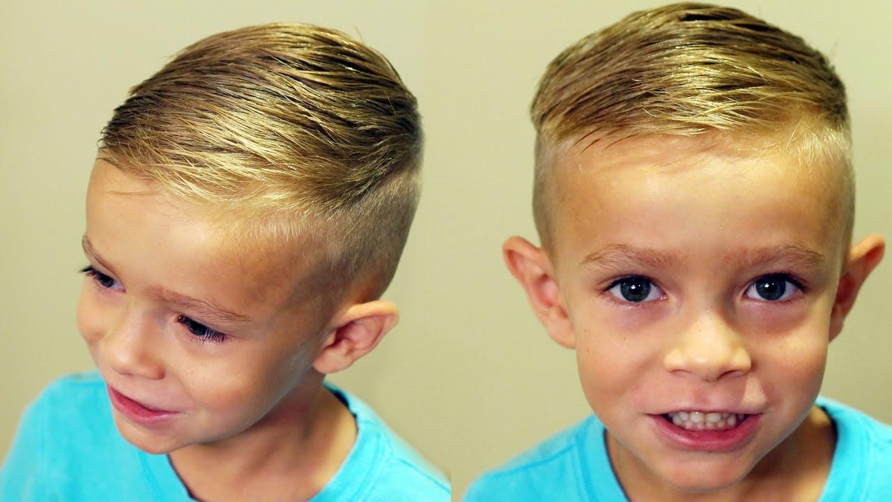Pompadour Haircut Toddler : How to cut boys hair trendy haircut tutorial
