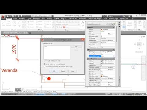 AutoCAD Construction Drawings Tutorial | Annotation Scaling