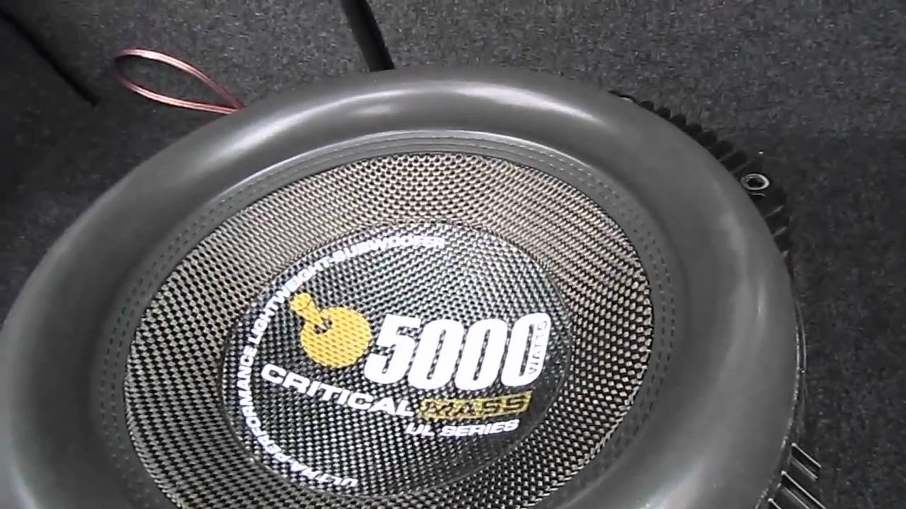 Critical Mass UL12 Excursion - Worlds Best Subwoofer - YouTube