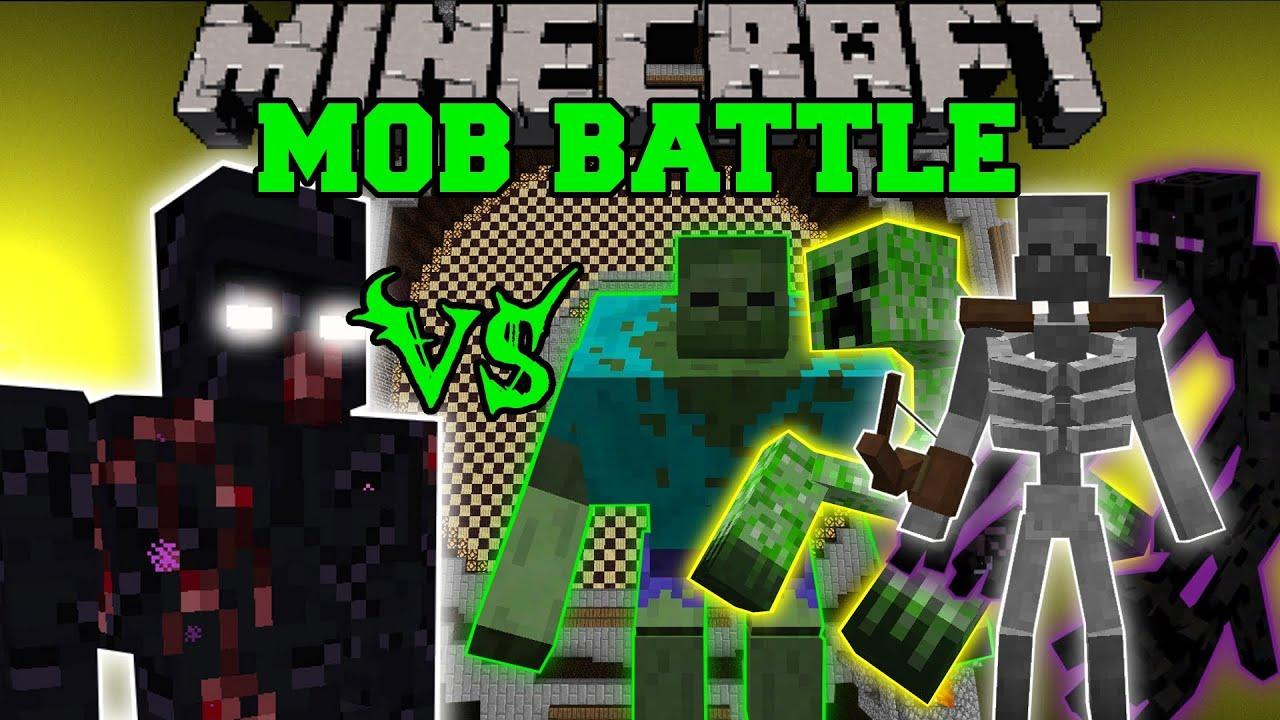 Mutant obsidian golem vs mutant zombie creeper enderman - Minecraft zombie vs creeper ...