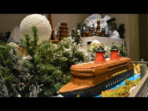 Epcot NEW Gingerbread Village Featuring Disney Cruise Line; Aulani; Eiffel Tower; Spaceship Earth