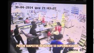 Apresentados suspeitos de roubar pelo menos 50 supermercados em BH