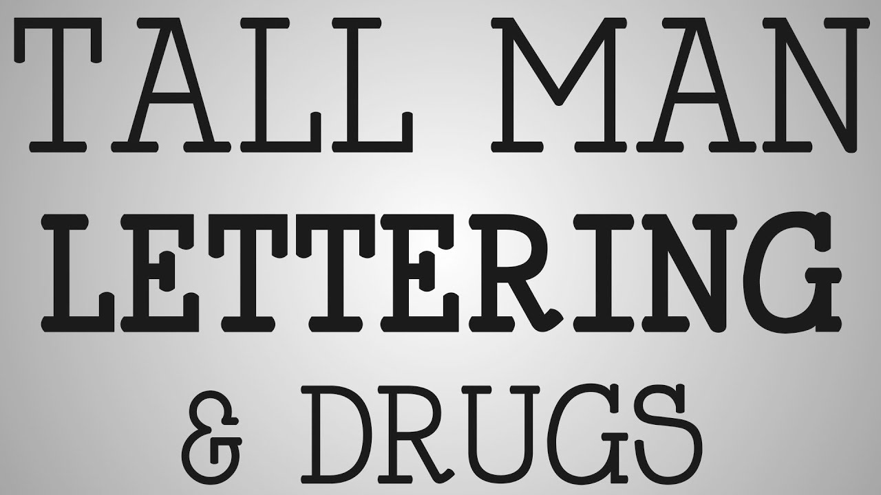 Nursing Education | Tall Man Lettering & Drugs - YouTube