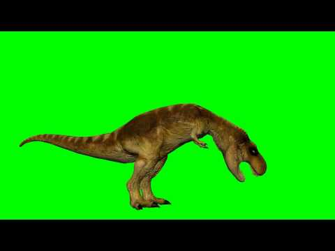 dinosaur T-Rex drinks - green screen effect