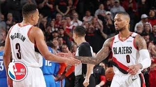 Damian Lillard, CJ McCollum end Blazers' playoff losing streak vs Thunder   NBA Highlights
