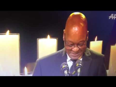 Mandela Funeral Zuma makes fun of Malawi President