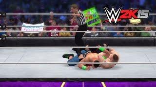 WWE 2K15 Dream Match: Brock Lesnar Vs. John Cena
