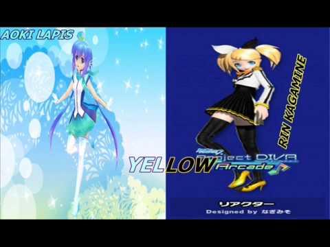 YELLOW  Aoki Lapis y Rin kagamine