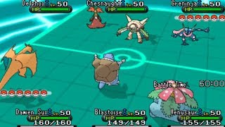 Pokemon X And Y Triple Battle WiFi GEN 1 VS GEN 6
