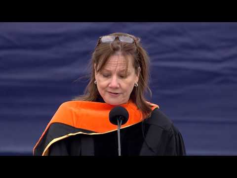 Mary Barra at 2014 spring commencement