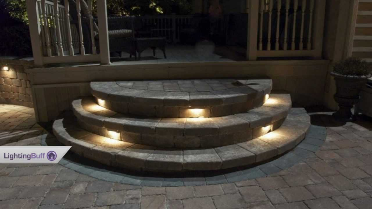 outdoor deck step lights youtube