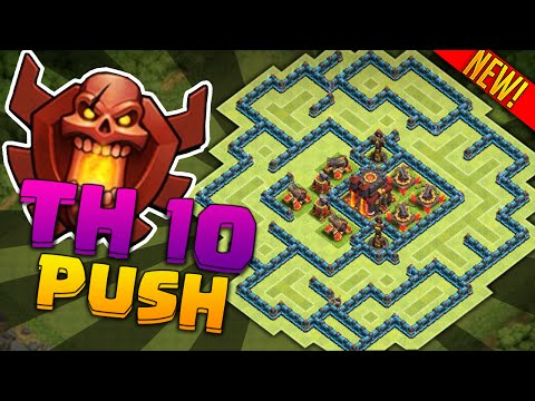 Town hall level 10 clan war base clash of clans best town hall 10