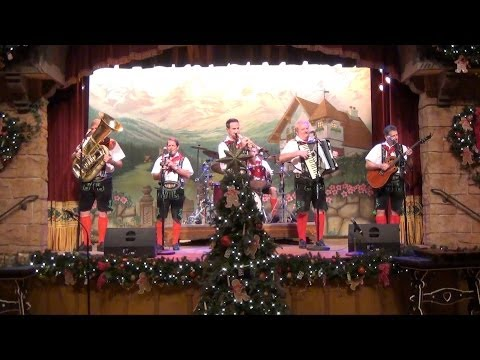 Epcot Germany Biergarten Christmas Show Highlights - Holidays Around The World 2013, Disney
